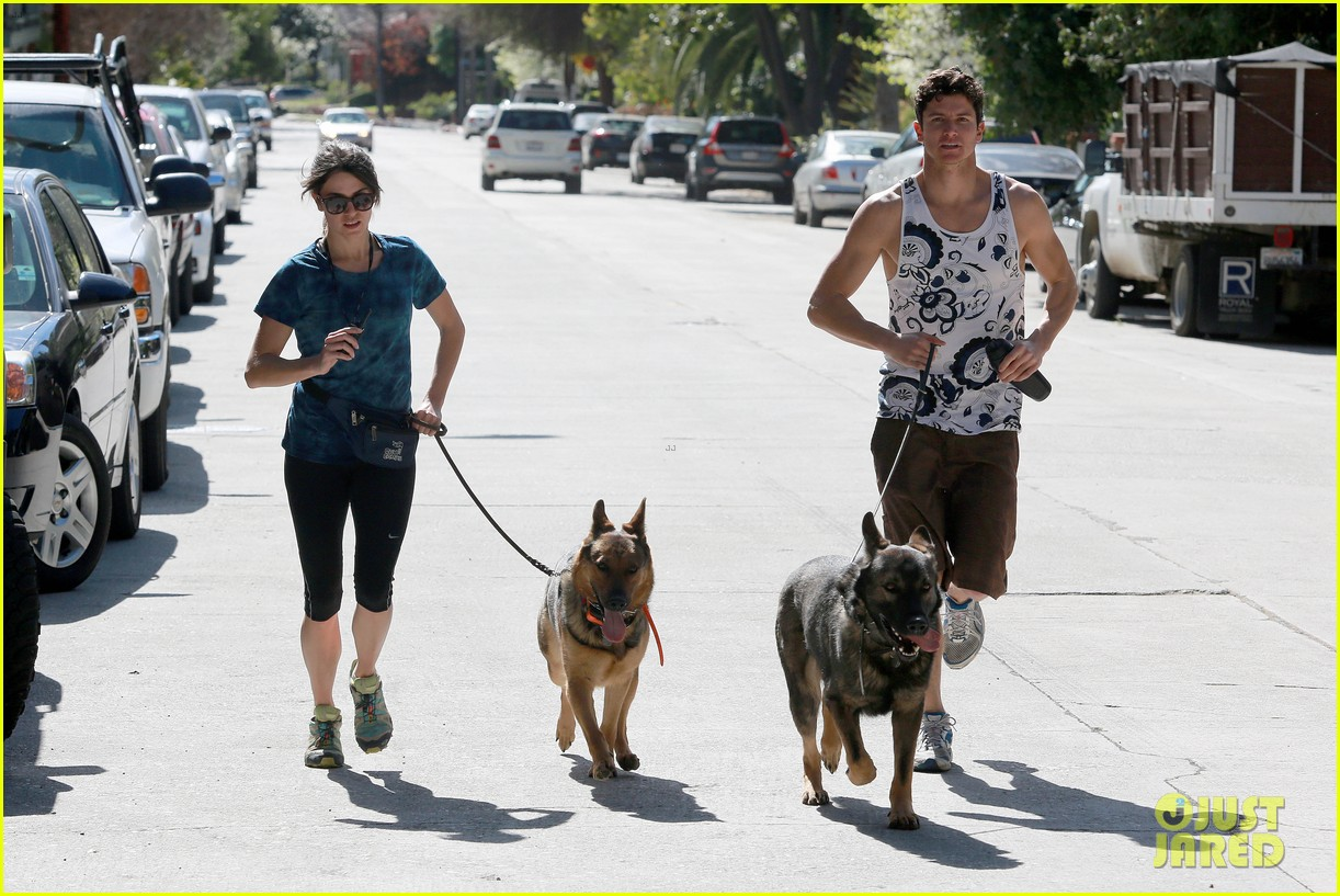 nikki reed dog run with brother nathan 07