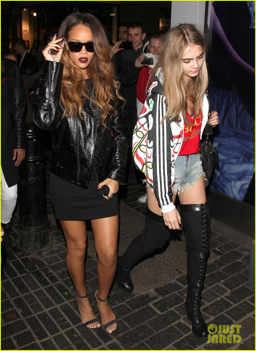 rihanna cara delevingne the box nightclub party 04