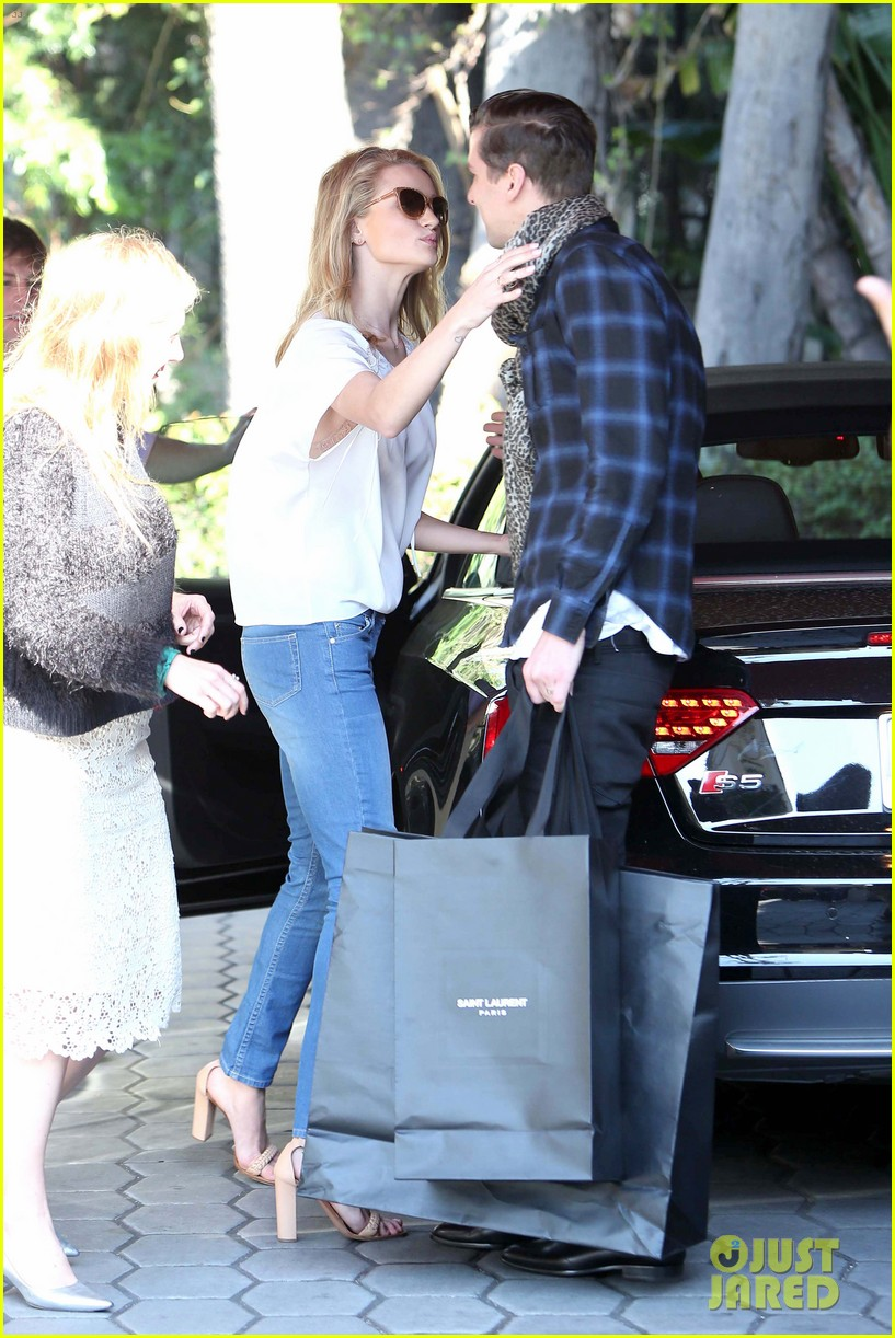 rosie huntington whiteley topless in cher coulter jeans 14