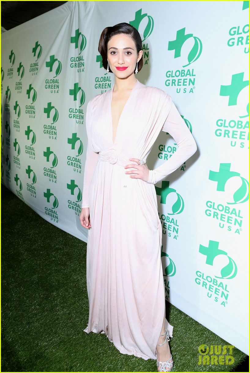 emmy rossum sophia bush global green pre oscars party 01