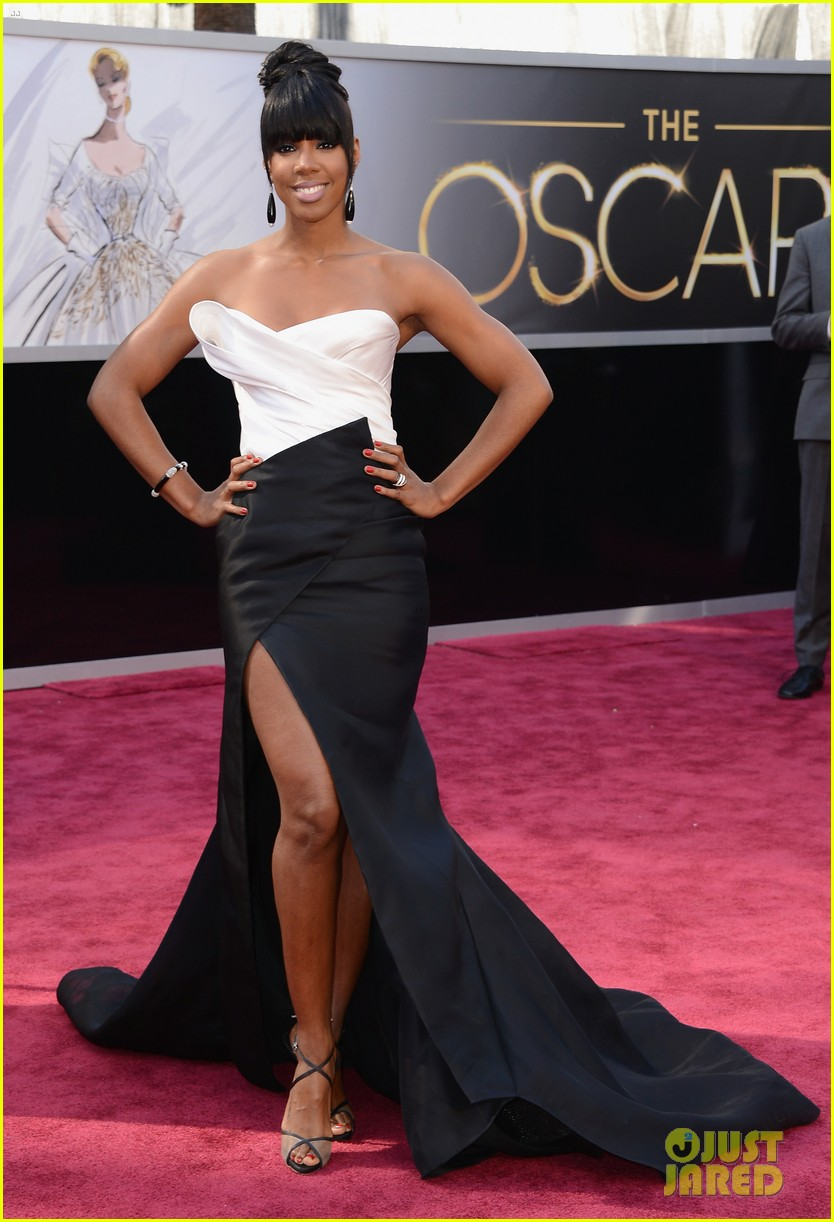kelly rowland oscars 2013 red carpet 01