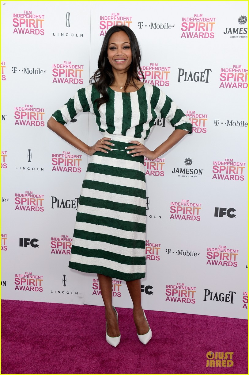 zoe saldana independent spirit awards 2013 012817922