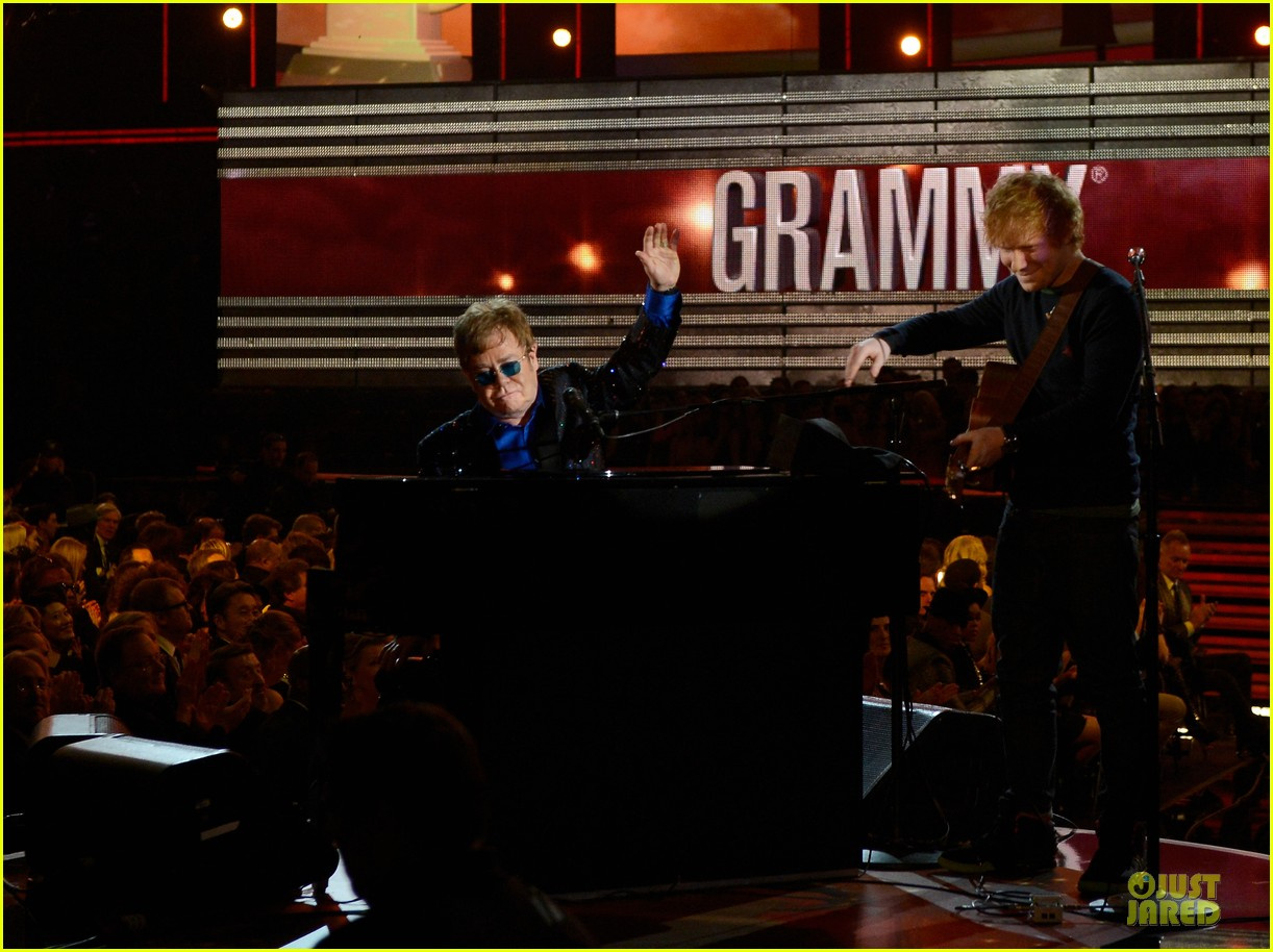 ed sheeran elton john grammys 2013 performance watch now 082809414