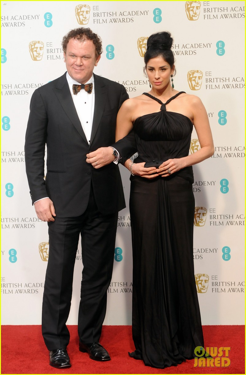 sarah silverman john c reilly baftas 2013 red carpet 03
