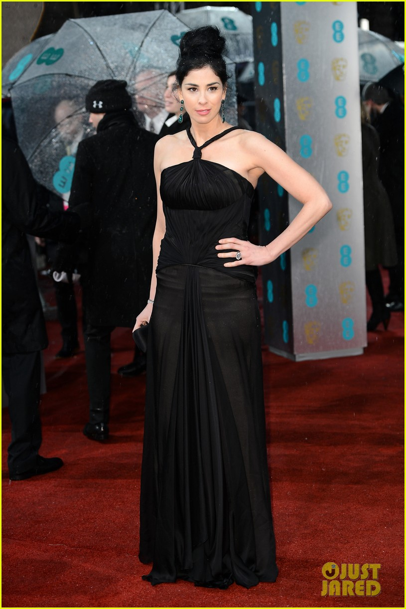 sarah silverman john c reilly baftas 2013 red carpet 05