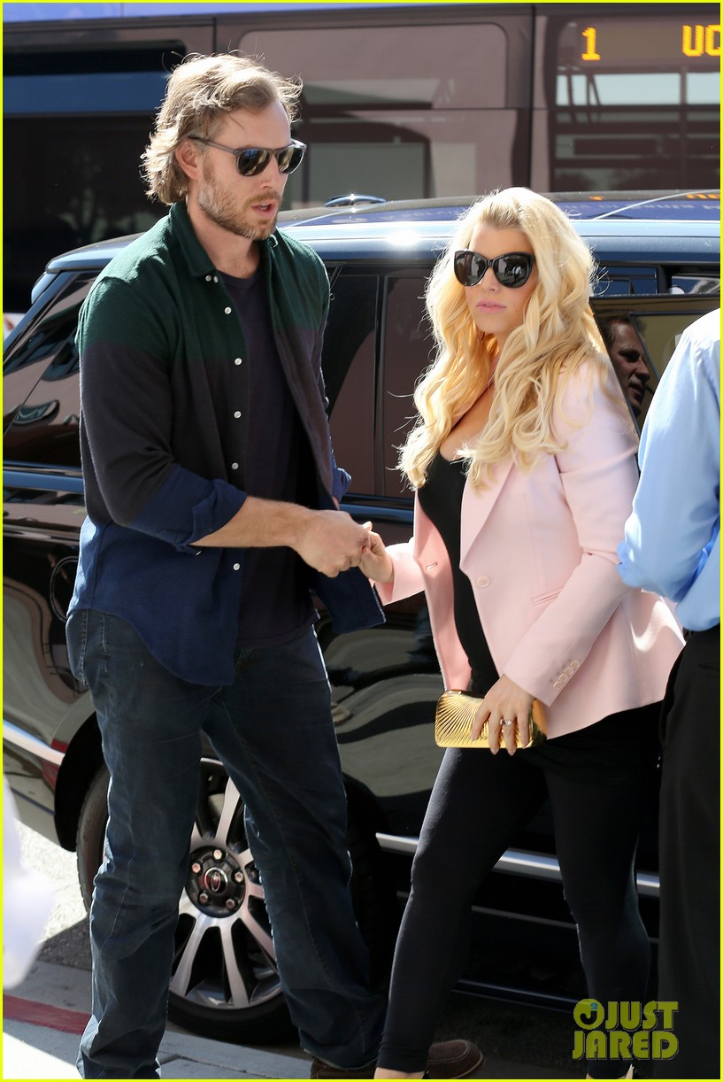 jessica simpson eric johnson valentines lunch lovebirds 05