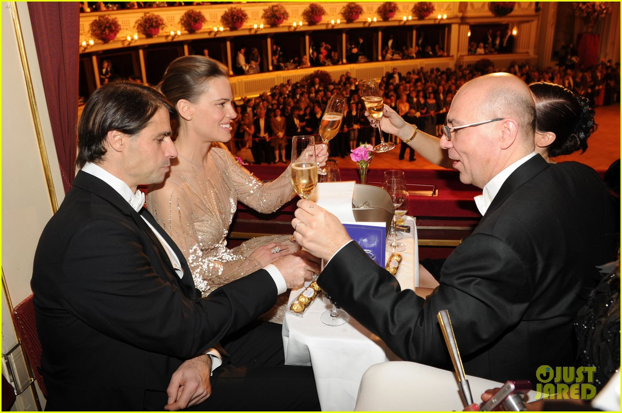 hilary swank laurent fleury vienna opera ball 102807017