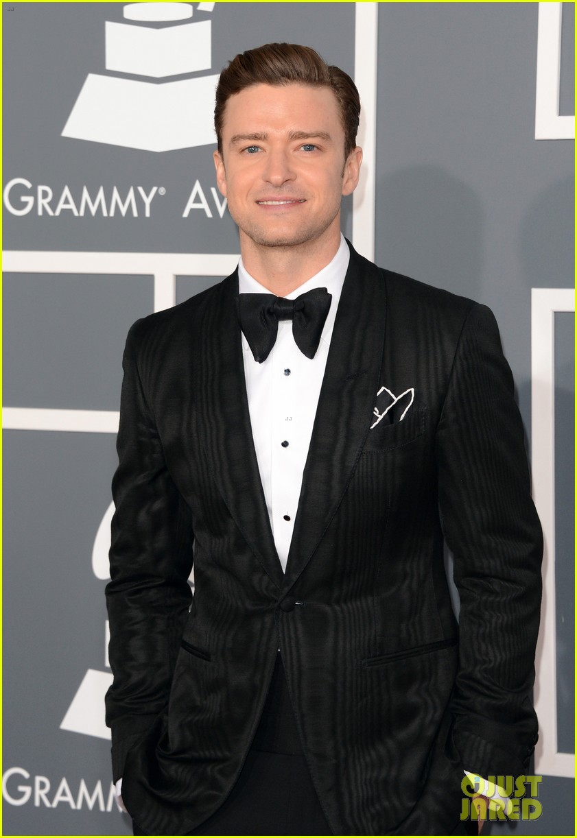 justin timberlake grammys 2013 red carpet 04