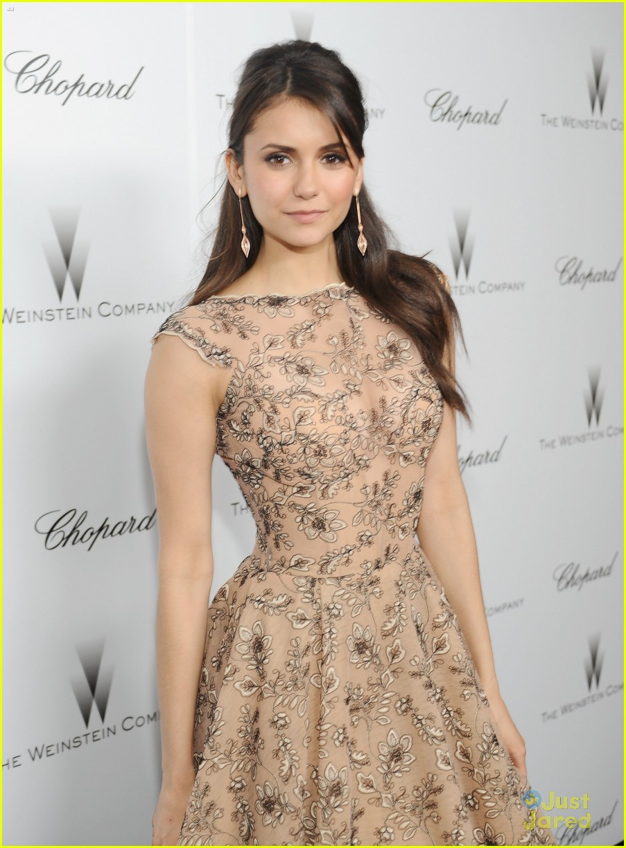 nina dobrev ian somerhalder weinstein pre oscars party with paul wesley 092818563