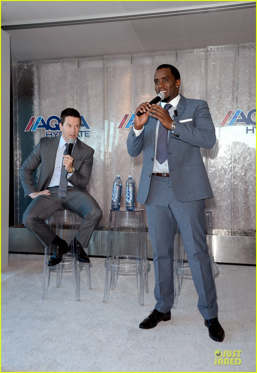 mark wahlberg sean combs aquahydrate press conference 152822024