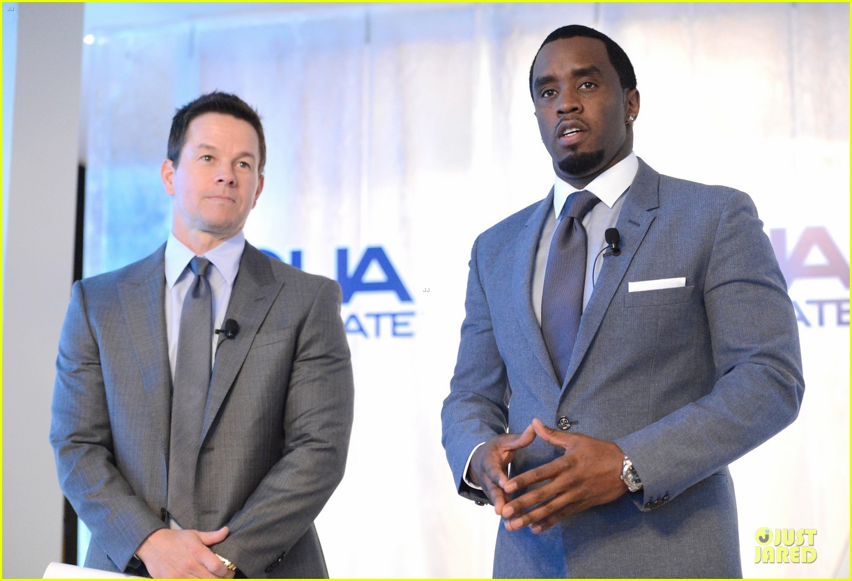 mark wahlberg sean combs aquahydrate press conference 212822030