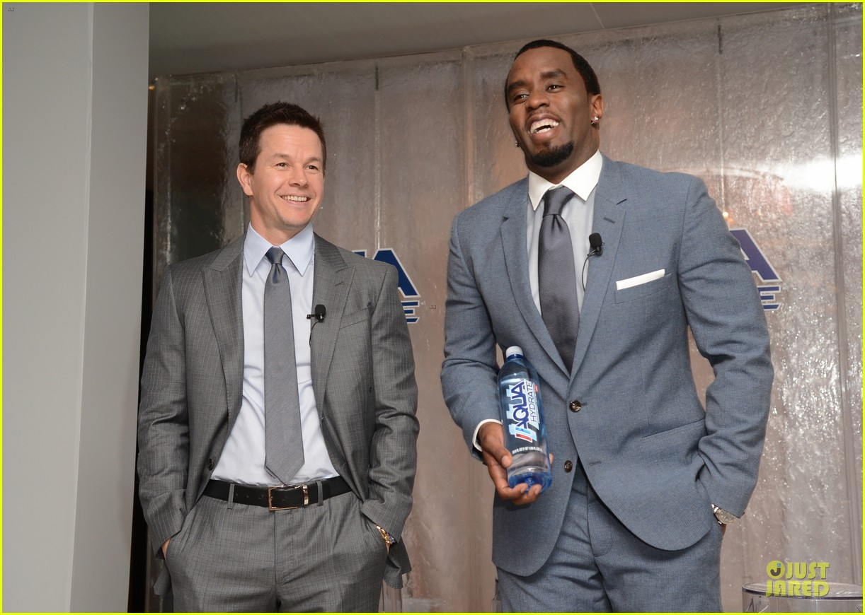mark wahlberg sean combs aquahydrate press conference 252822034