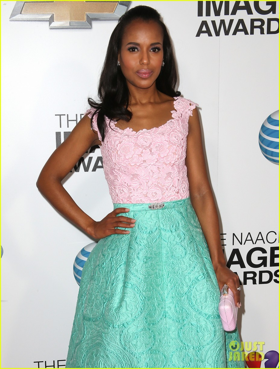 kerry washington naacp image awards 2013 red carpet 242802753