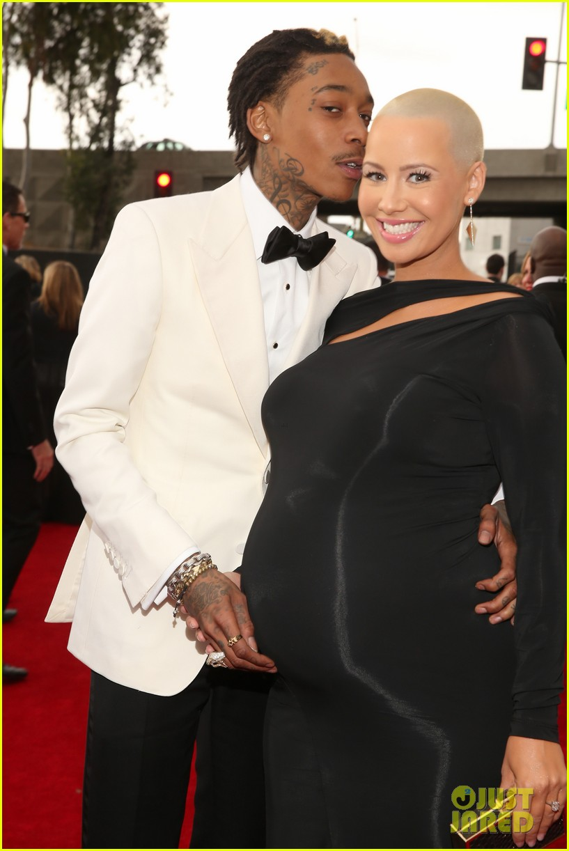 wiz khalifa amber rose grammys 2013 red carpet 02