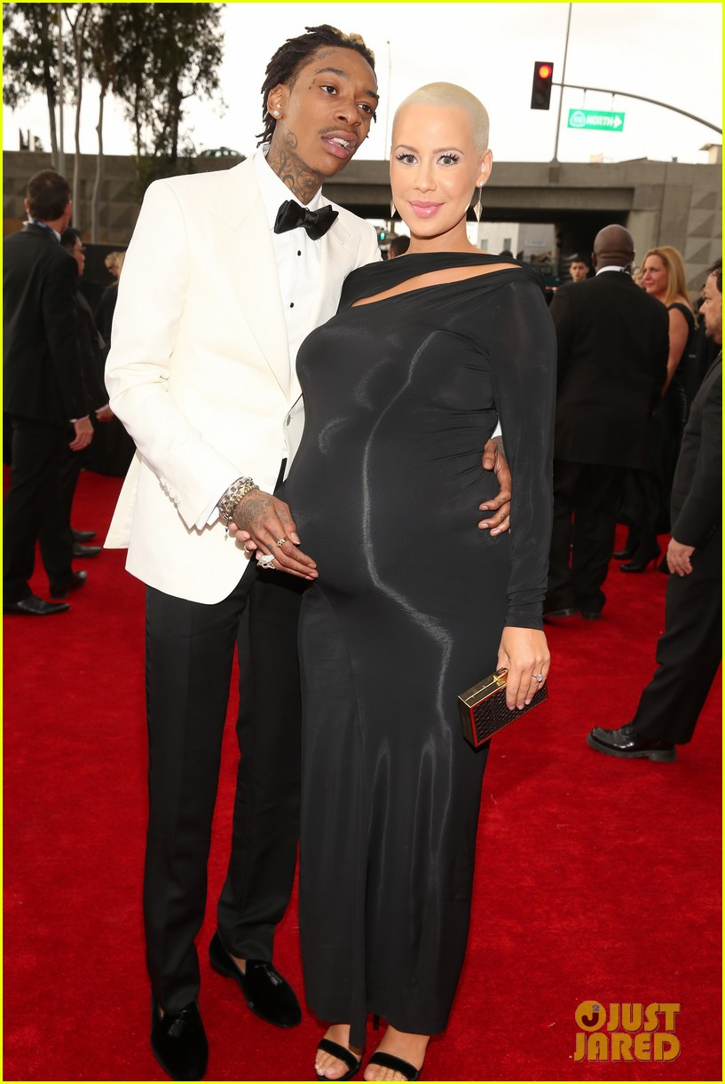 wiz khalifa amber rose grammys 2013 red carpet 03