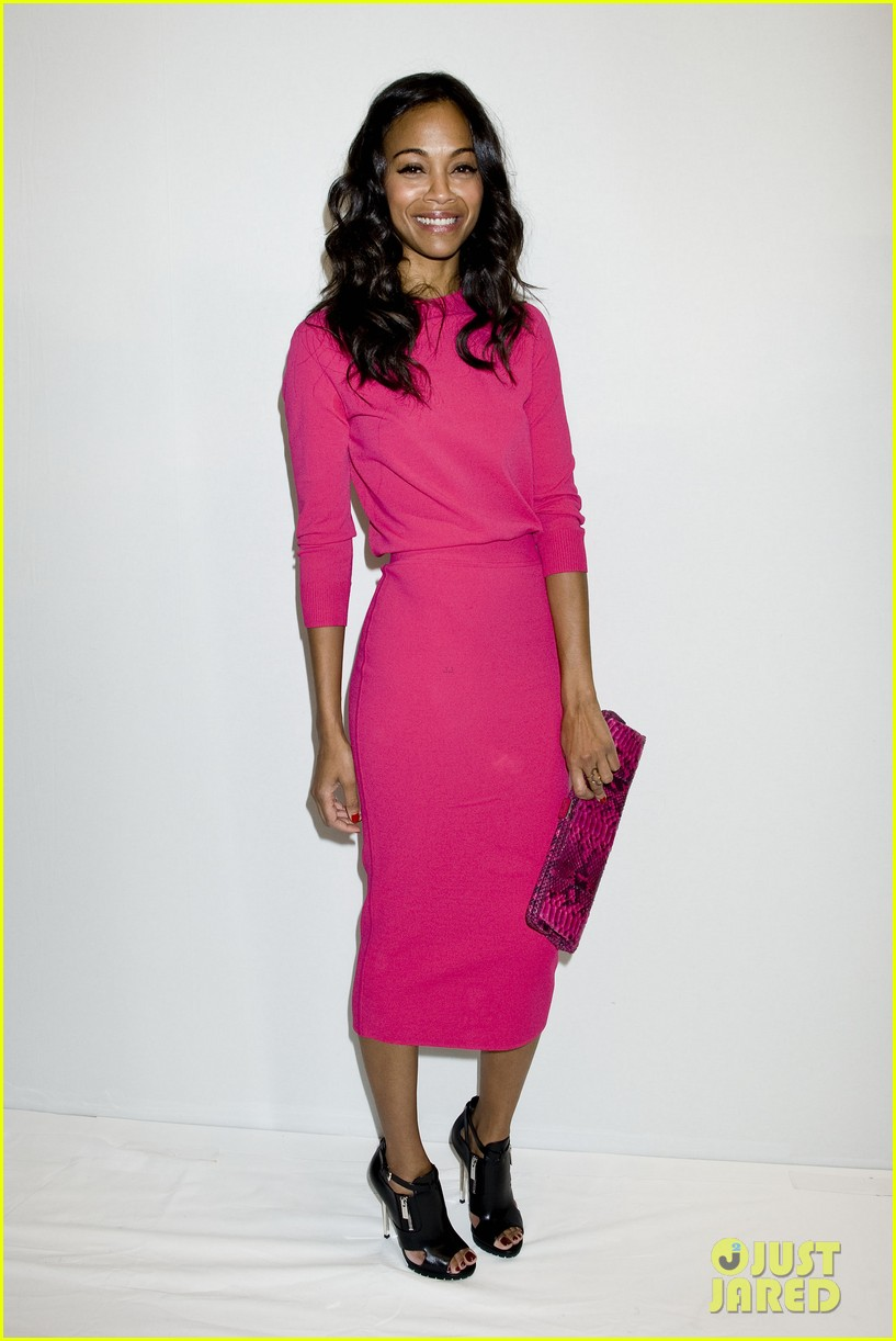 zoe saldana willow jada pinkett smith michael kors show 01