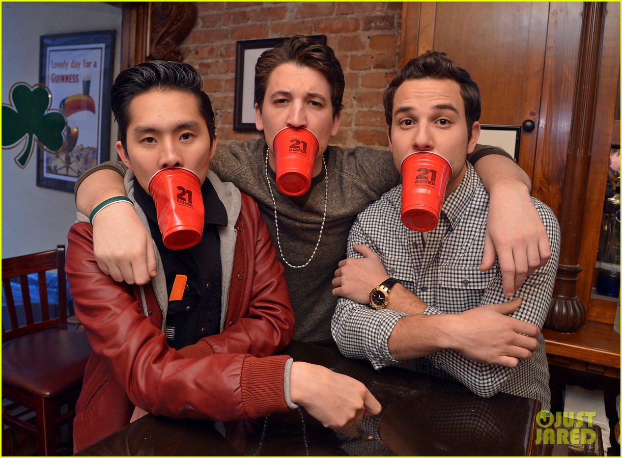miles teller skylar astin justjared exclusive interview 06