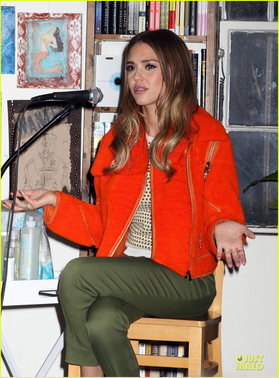 jessica alba honest life book promotion in new york 29