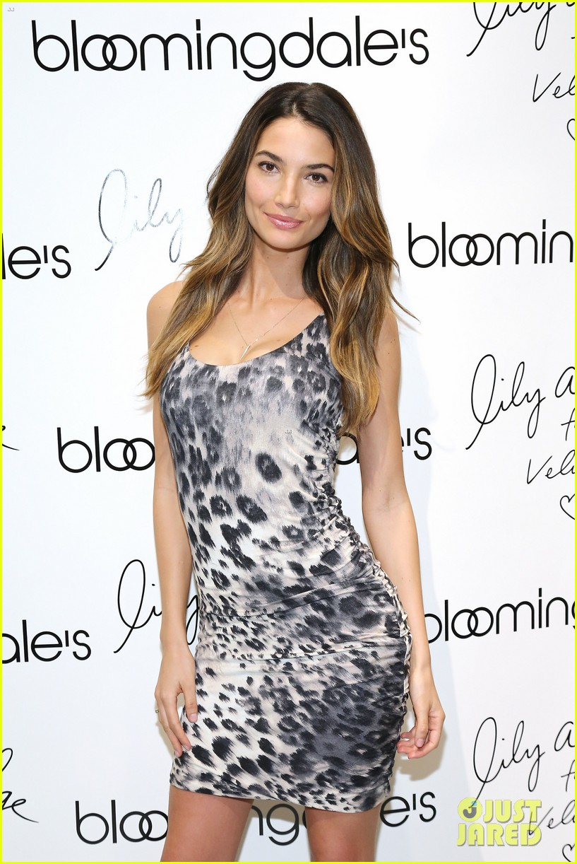 lily aldridge velvet collection launch at bloomingdales 07