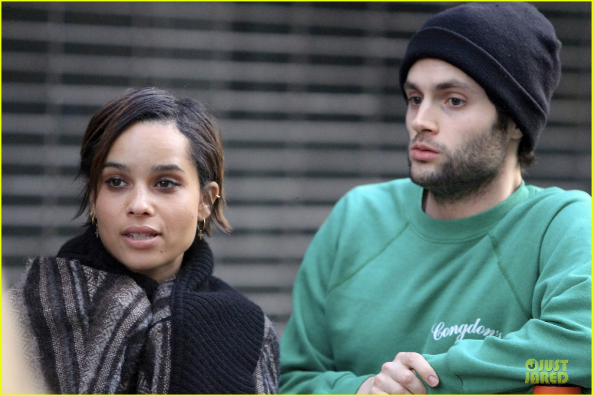 penn badgley zoe kravitz the boy who smells like fish premiere 202824708