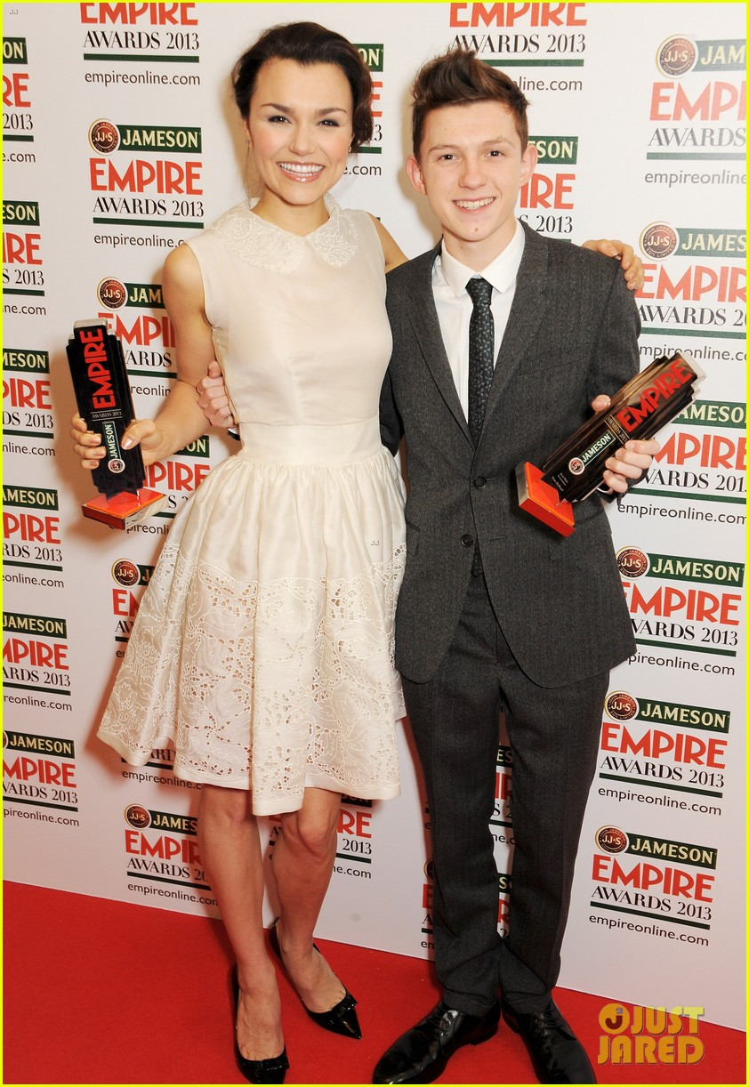 samantha barks tom holland empire awards winners 03