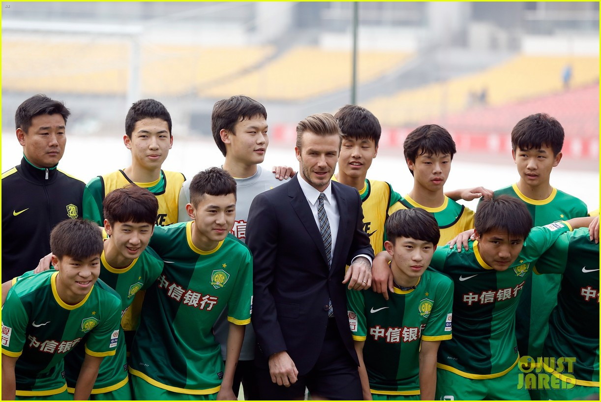 david beckham beijing guoan football club visit 04