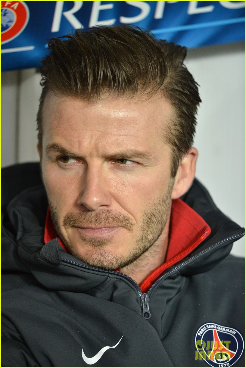 david beckham cheers on the sidelines for psg 06