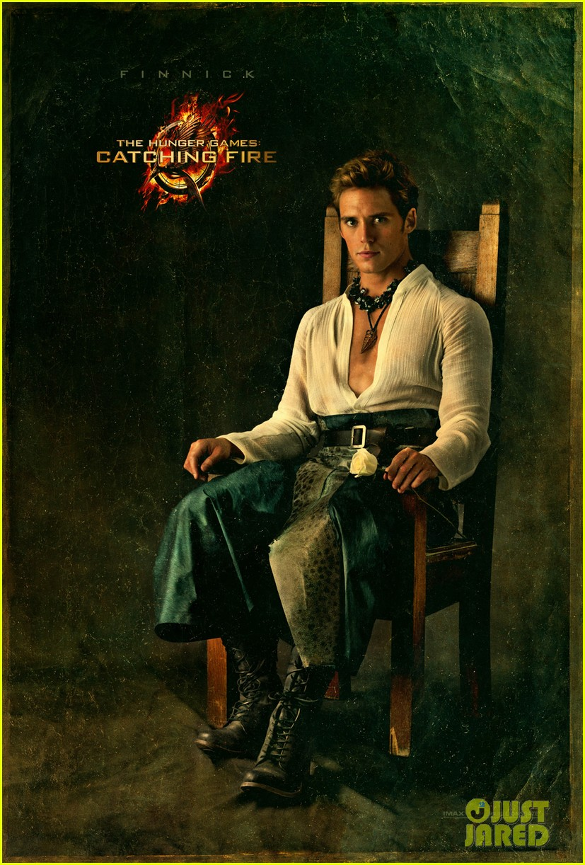 sam claflin as finnick hunger games catching fire portrait