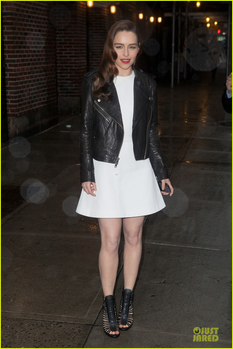 emilia clarke late show with david letterman taping 03