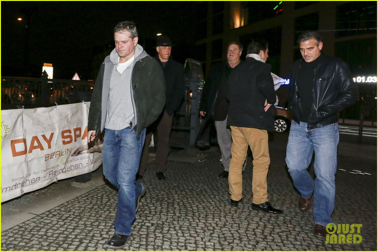 george clooney matt damon berlin buddies 05