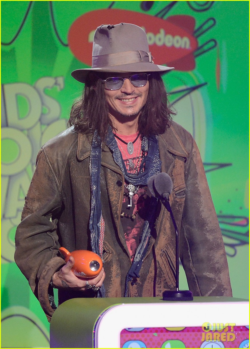 johnny depp kids choice awards 2013 winner 02