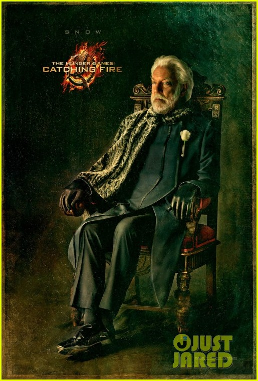 donald sutherland hunger games catching fire snow portrait 01