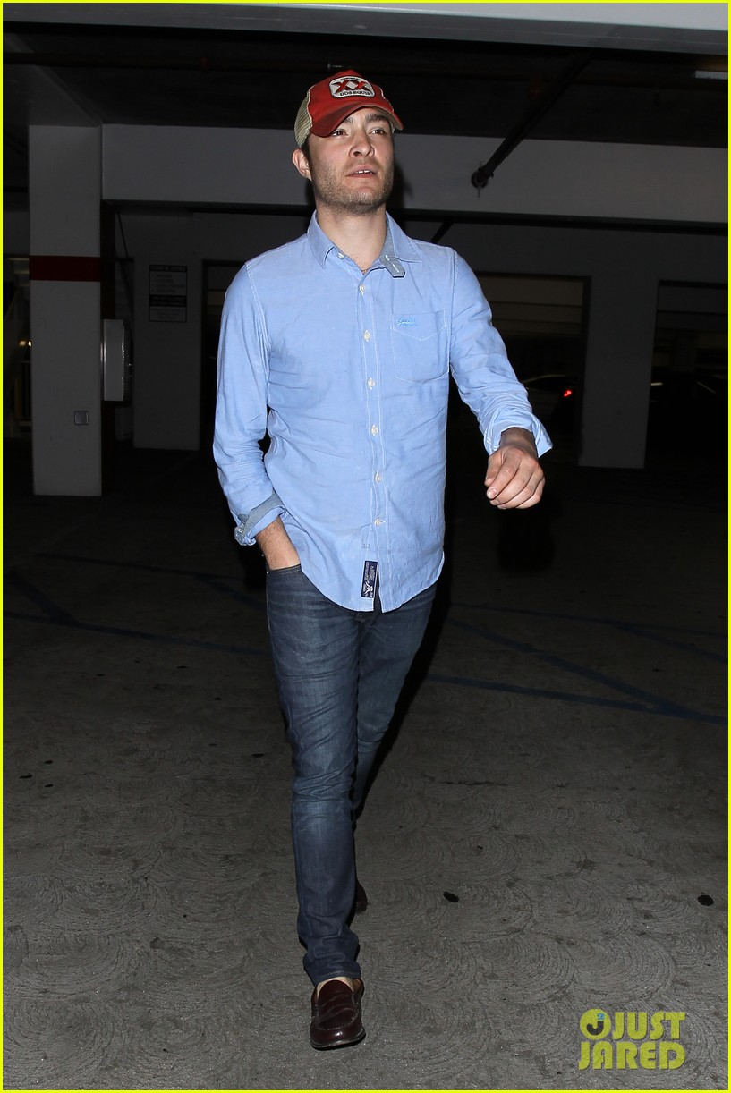 ed westwick solo movie theater outing 042838192