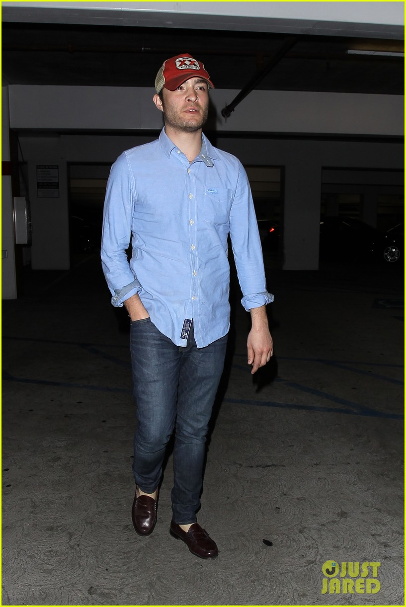 ed westwick solo movie theater outing 05