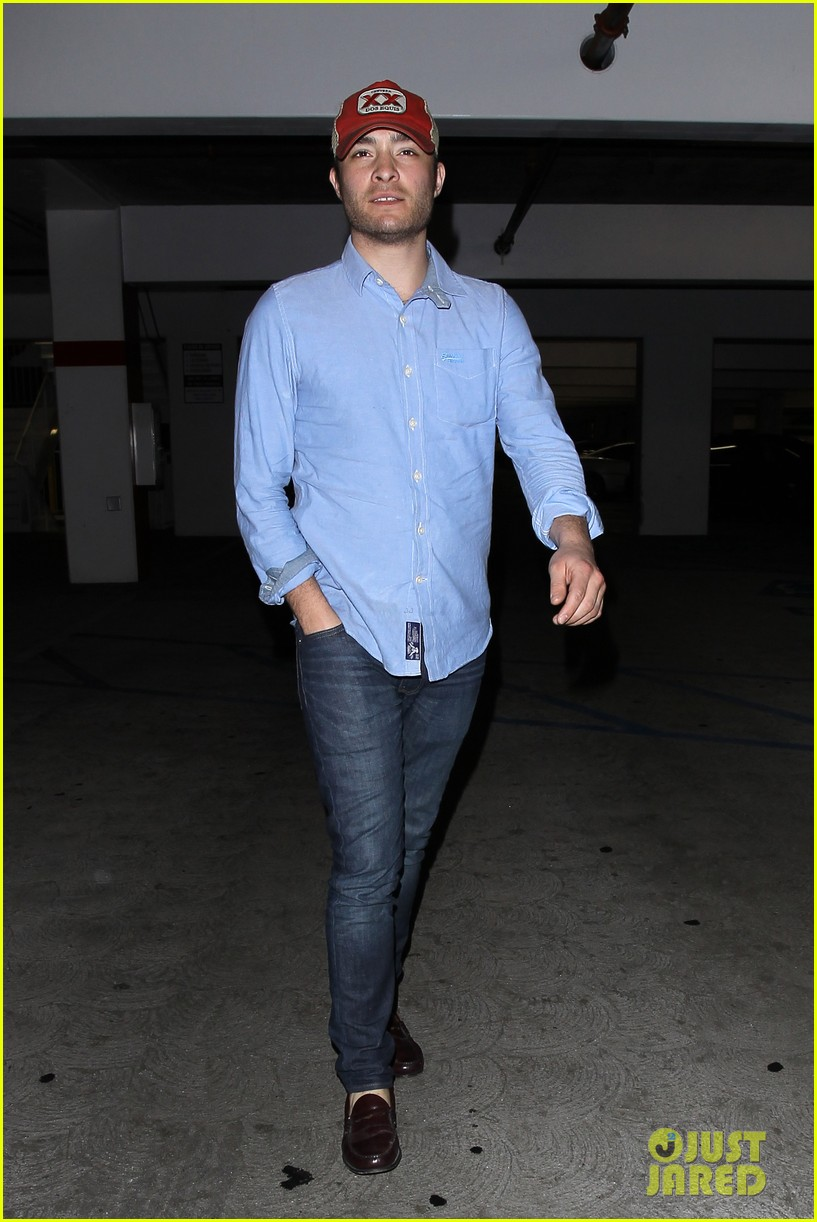 ed westwick solo movie theater outing 062838194