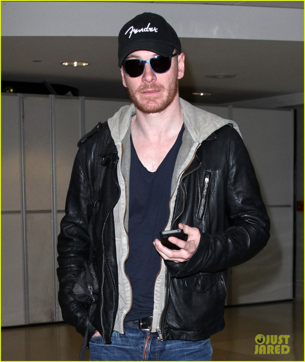 michael fassbender fender fellow at lax 05