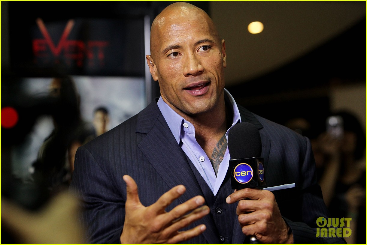 dwayne johnson g i joe 2 retaliation australian premiere 042830358