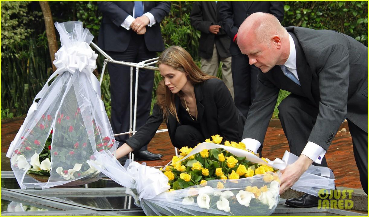 angelina jolie gisozi genocide memorial visit 01