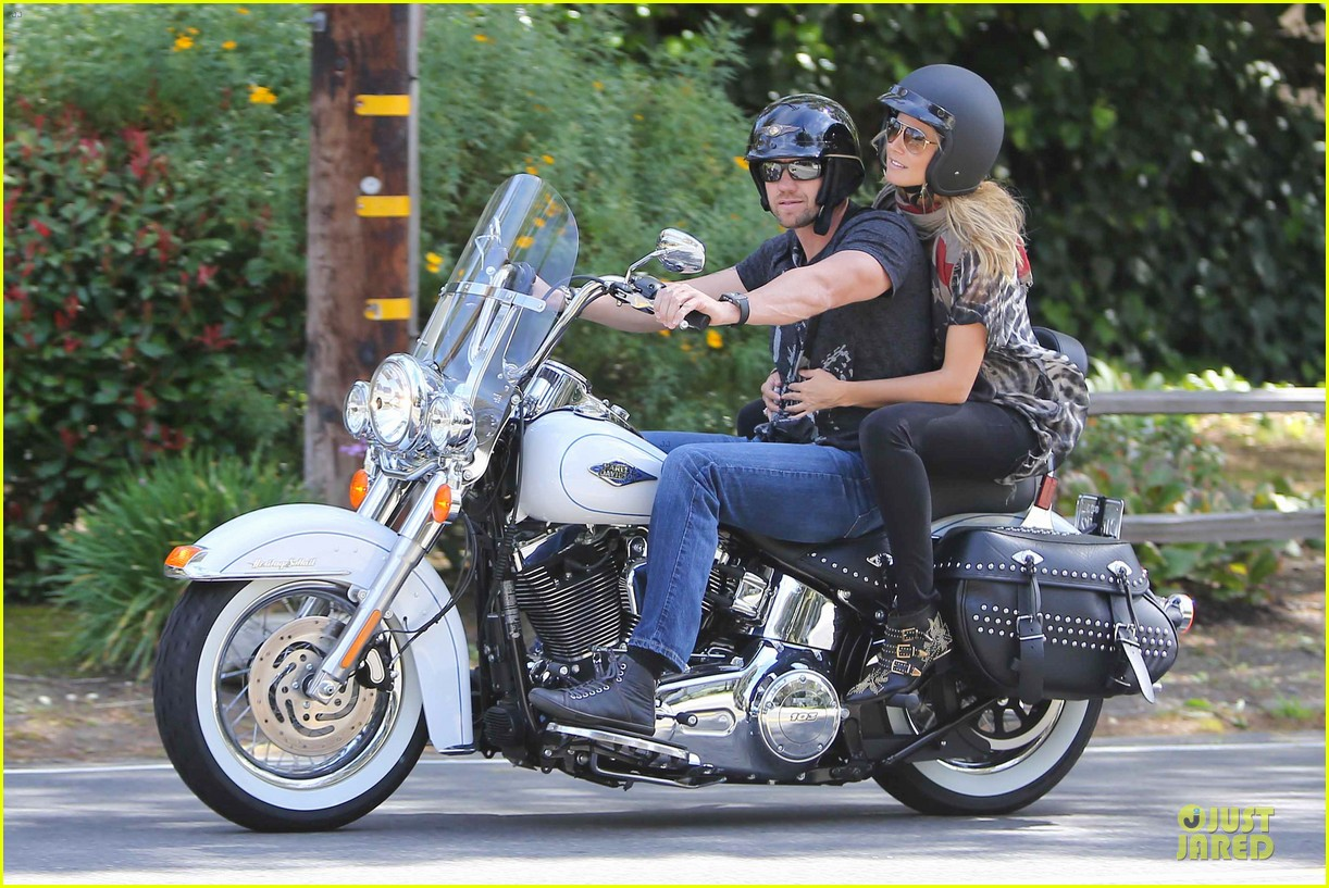heidi klum martin kirsten brentwood motorcycle ride 28