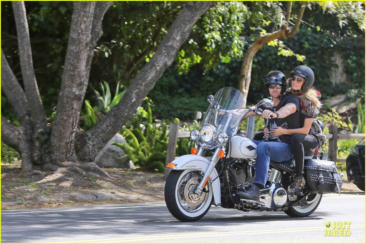 heidi klum martin kirsten brentwood motorcycle ride 342823852