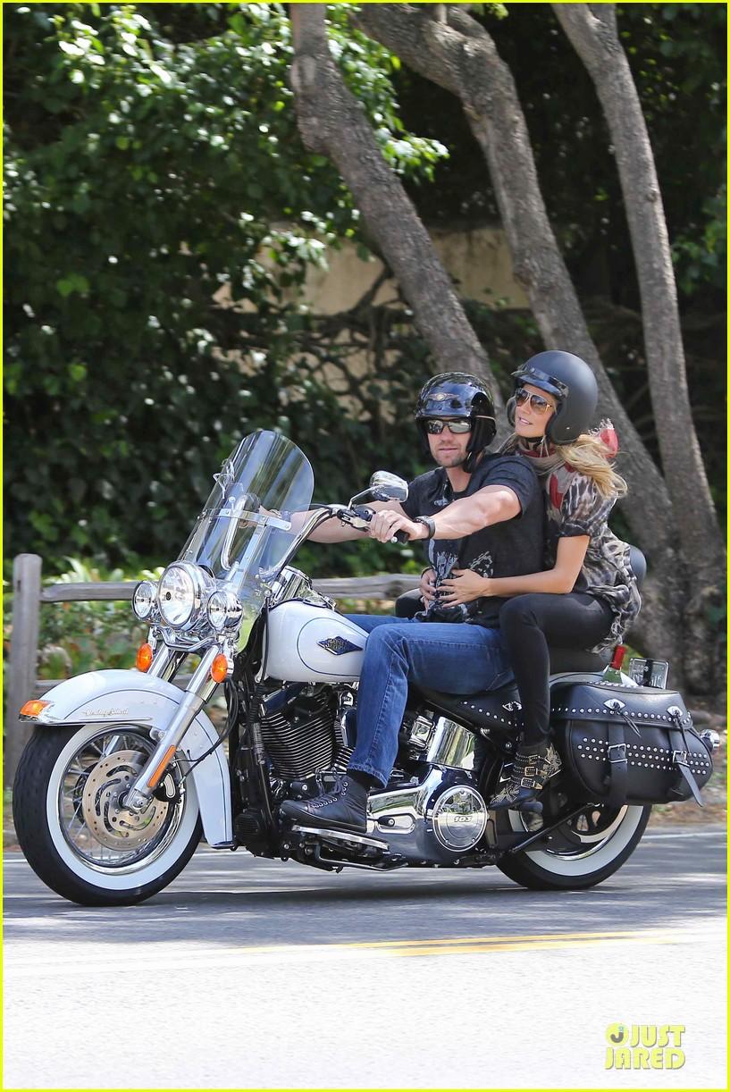 heidi klum martin kirsten brentwood motorcycle ride 36