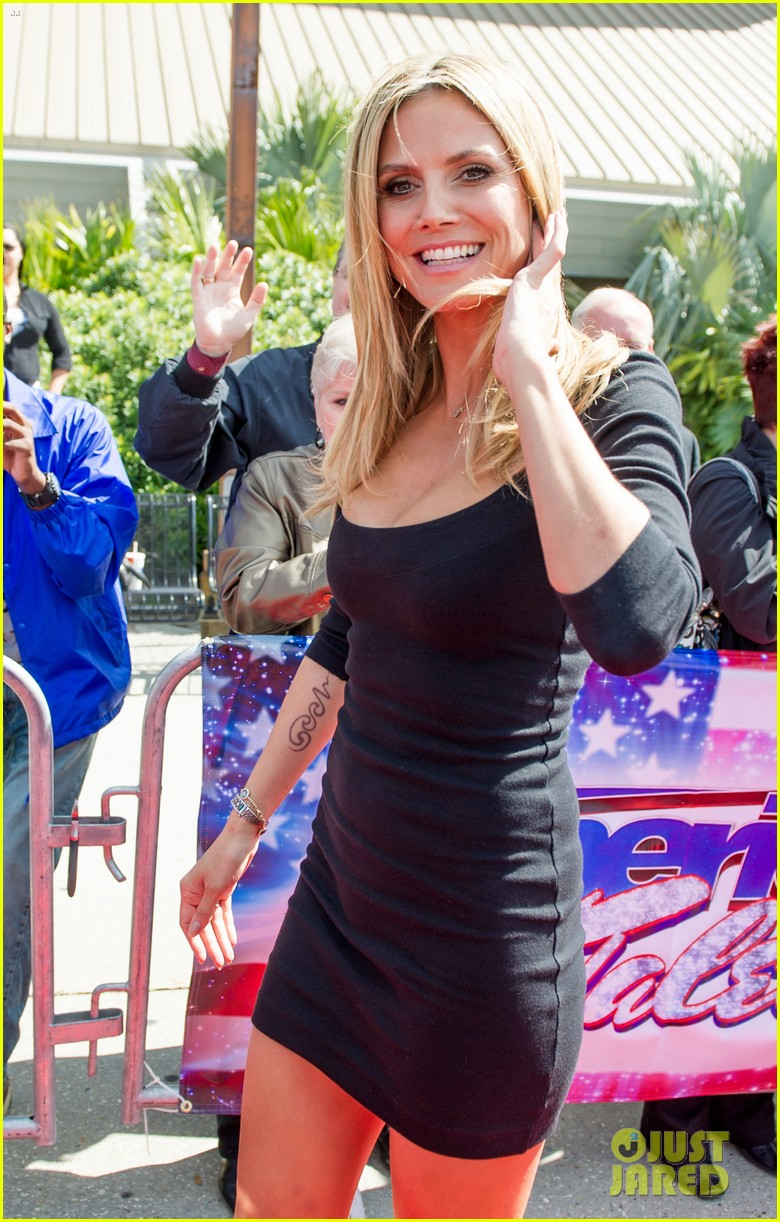 heidi klum mel b americas got talent taping 162825027