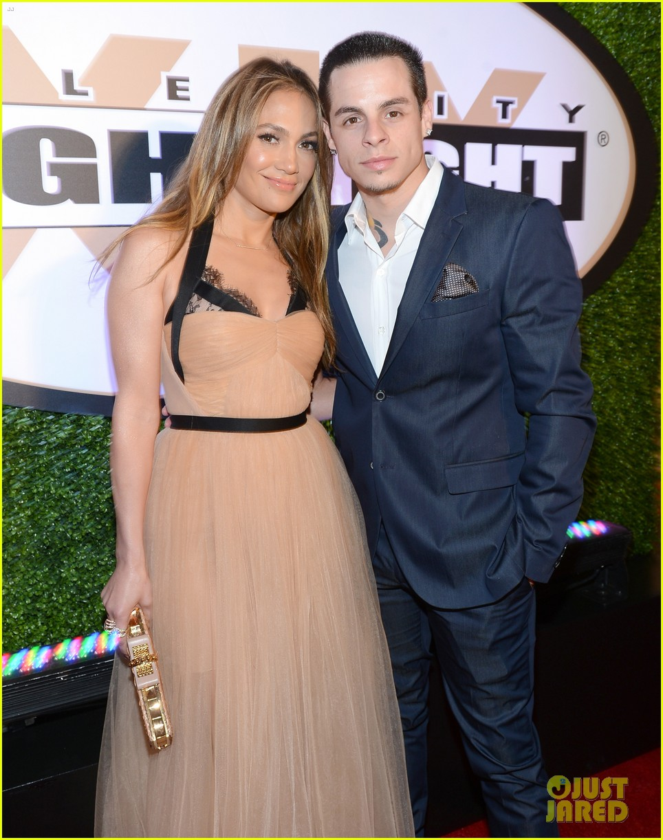 jennifer lopez celebrity fight night with casper smart 072836610