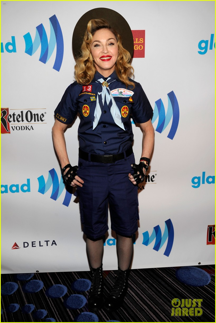 madonna boy scout costume at glaad media awards 2013 04