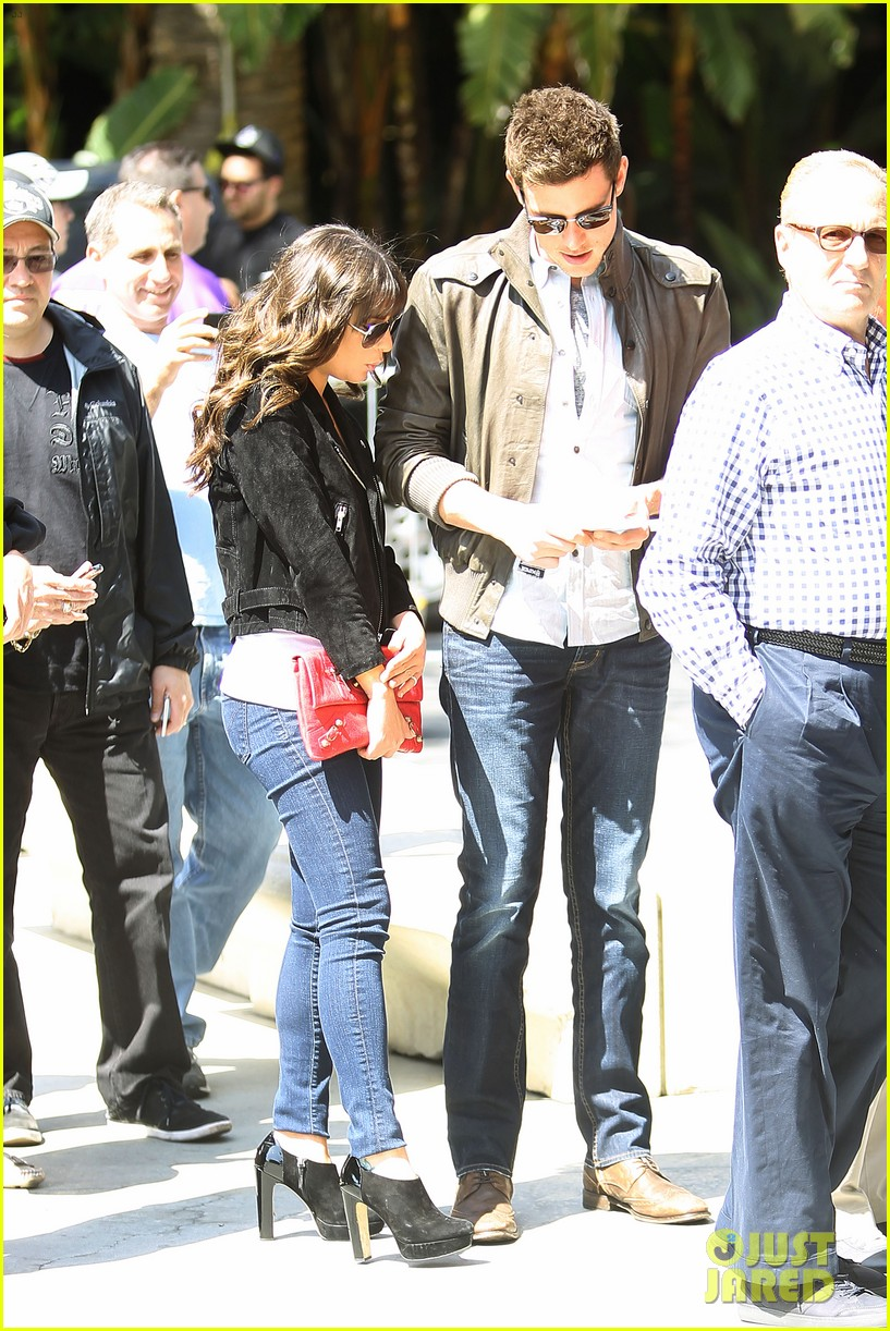 lea michele cory monteith kings game couple 12