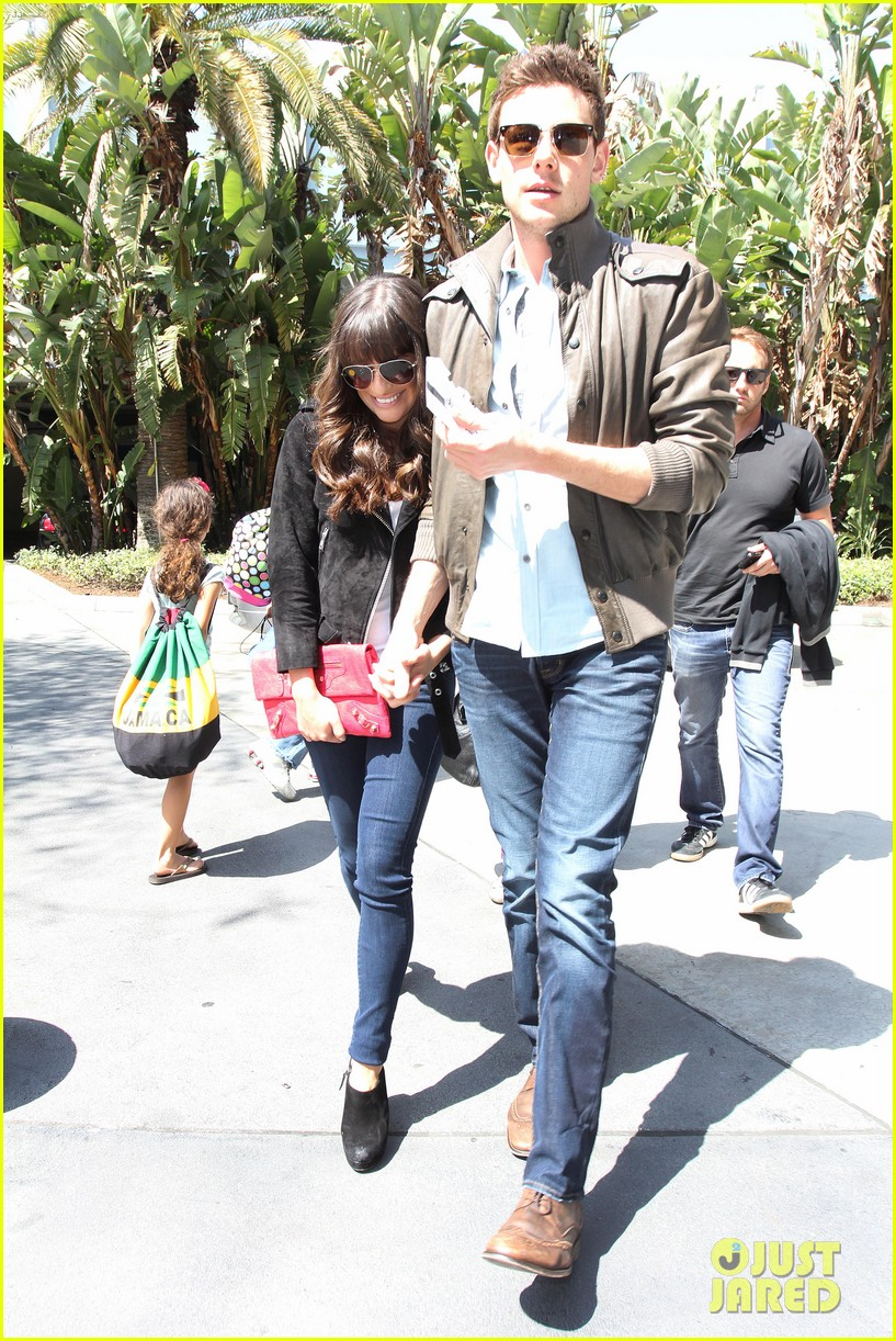 lea michele cory monteith kings game couple 162836382