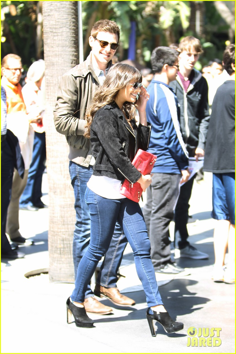 lea michele cory monteith kings game couple 172836383