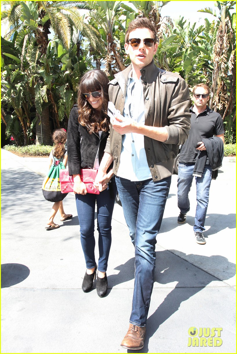 lea michele cory monteith kings game couple 182836384