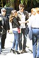lea michele cory monteith kings game couple 13