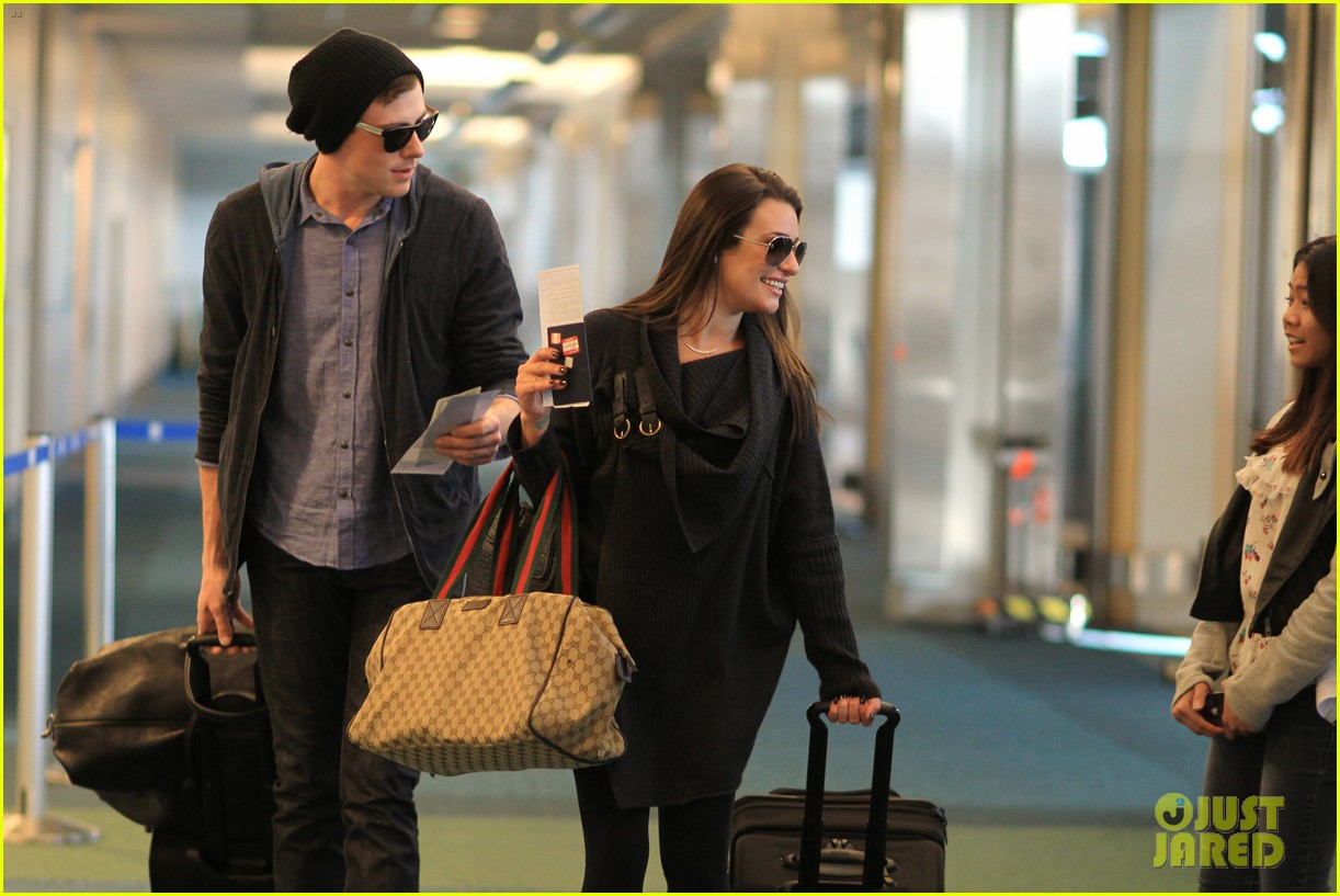 lea michele cory monteith from vancouver to l a 082833309